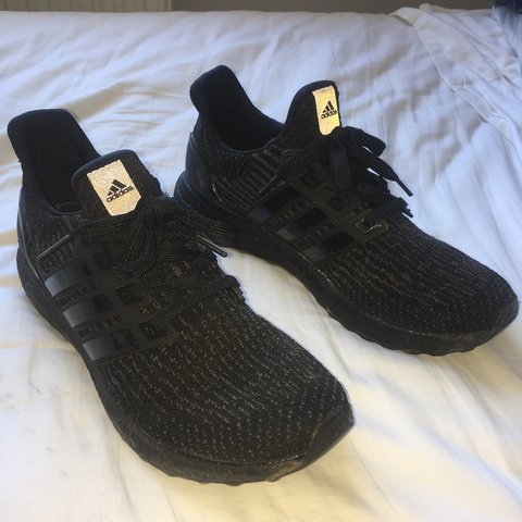 befc2084e4a Adidas 3.0 ultra boost triple black 7 10 condition Dm me   - Depop