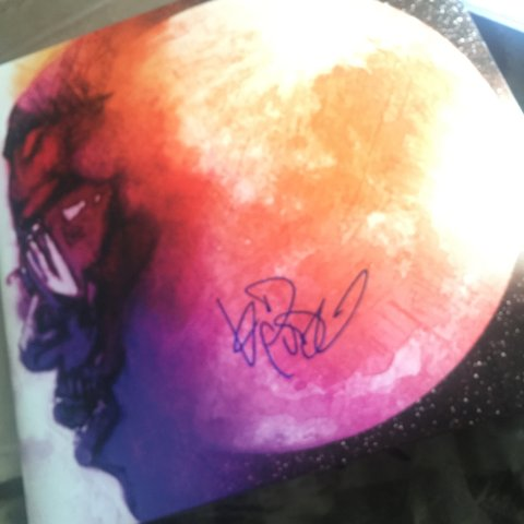 Kid Cudi Man On The Moon Signed Vinyl Rare And Authentic Comes With COA Kidcudi Vinylrecords