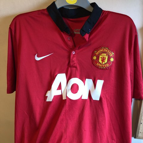 3ea2618e7 Manchester United home kit. Has a few small pulls on the and - Depop