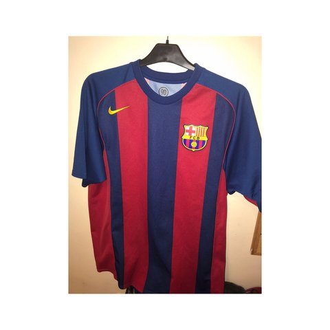 bc6af9b96 Classic Barcelona home kit from 2003 04. Perfect condition a - Depop