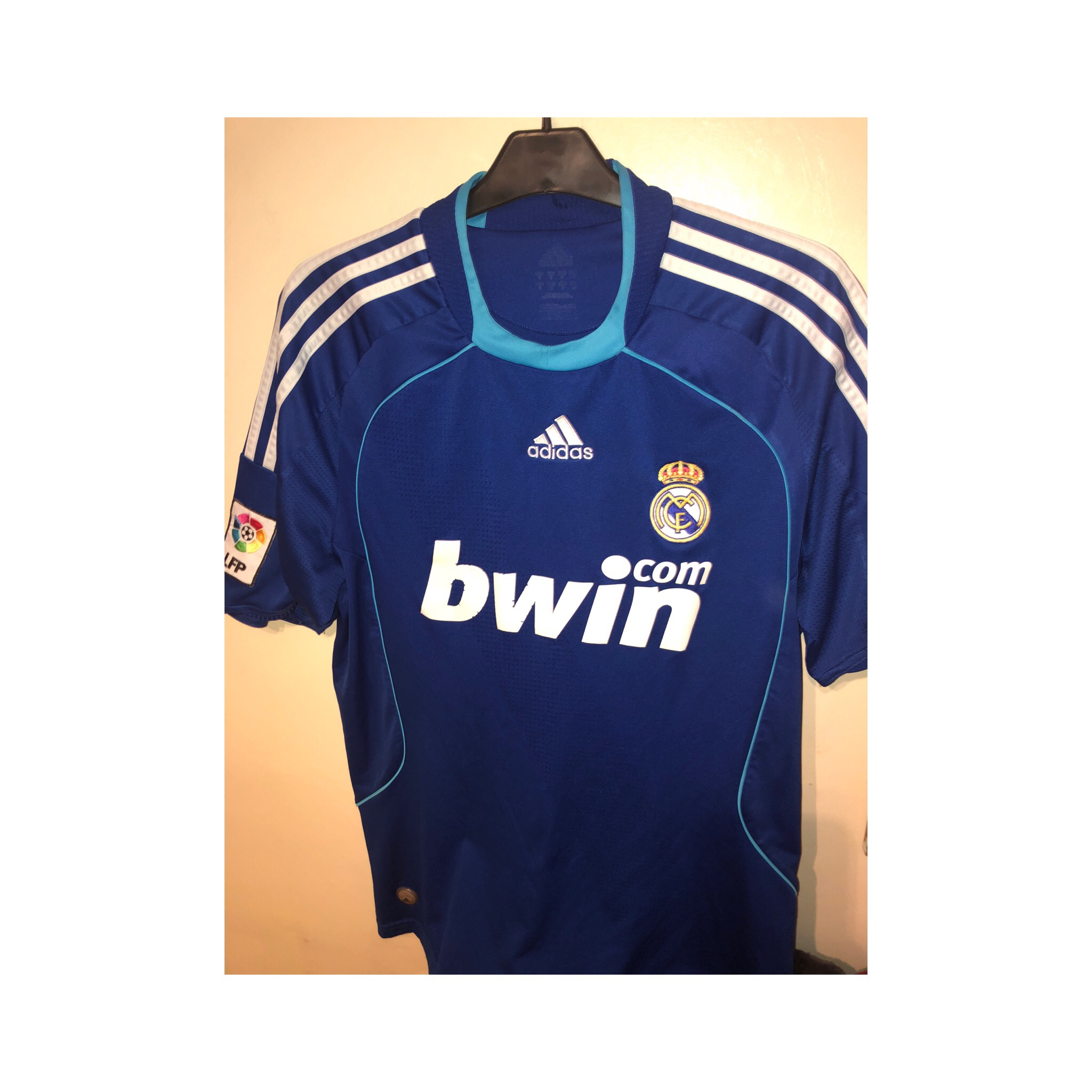 cheap for discount 8f2a9 3f910 Classic Real Madrid away kit. Condition is good with... - Depop