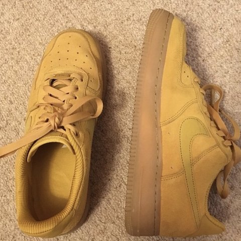 0aa2930268576 @chloe_fitzgerald_. 7 months ago. Newtownabbey, United Kingdom. Nike Air  Force 1 💫 yellow / mustard suede with gum sole 🌻 size 6 ✨ completely sold  out ...