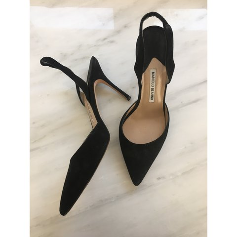 b64facaf941f2 Manolo Blahnik black heels, size 38.5, as seen on blog. - Depop