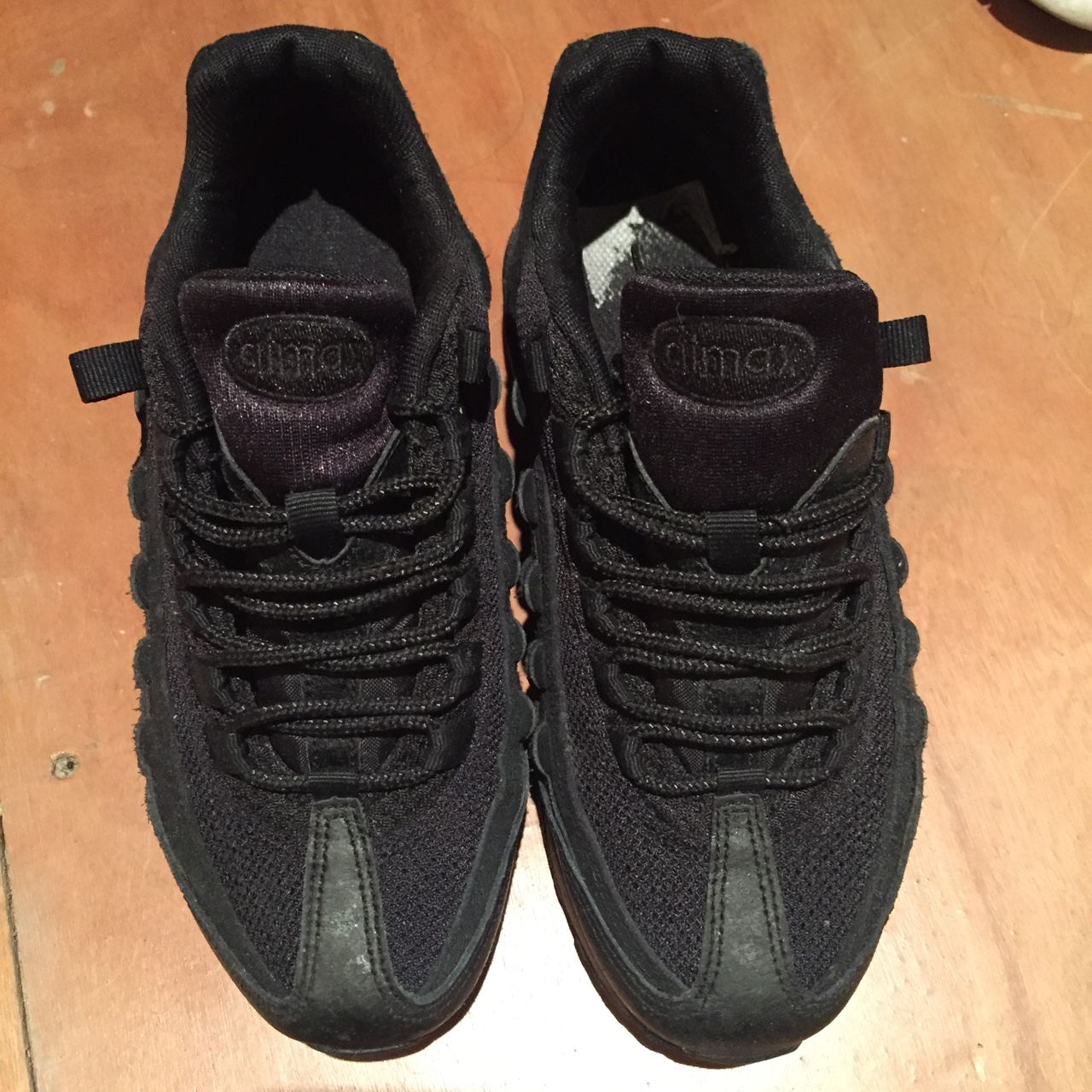 buying now best selling factory outlet Nike Air Max 95 Triple Black Junior Size UK 3, worn... - Depop