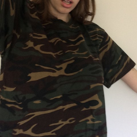 fa0fd4c142c5 @lottieskala. 4 months ago. London, United Kingdom. Save The People  oversized camo t-shirt !!!