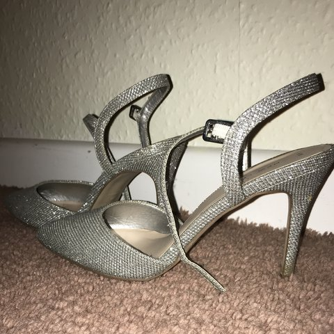 dfe054e4fdc2 @laura_johns. 5 months ago. Bideford, United Kingdom. Beautiful silver  sparkly 3 inch heels from new look! Worn once ...