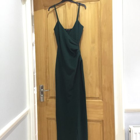 82ddfd8f3cd Emerald green wrap front crepe maxi dress Size 8