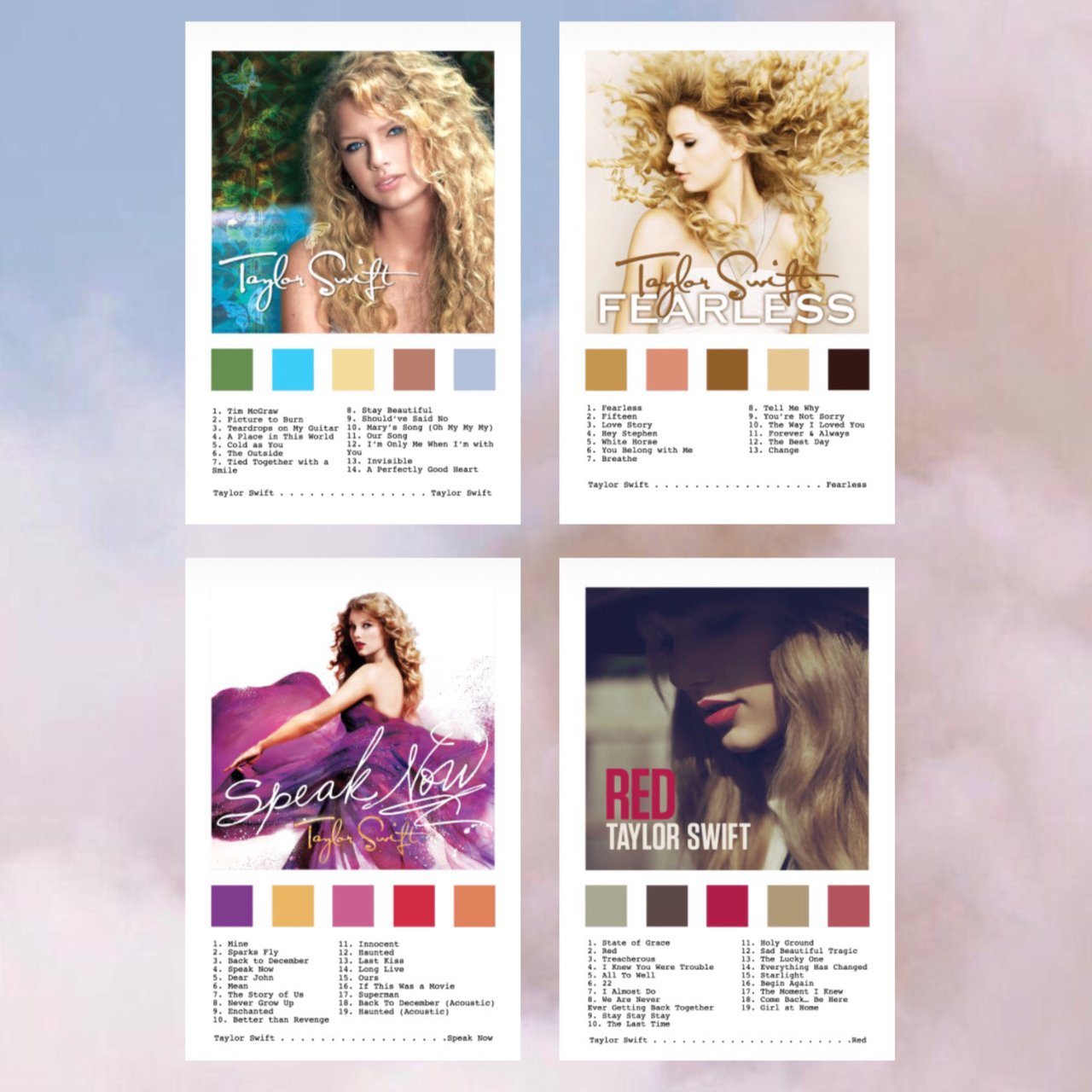 Taylor Swift Album Cover Prints Includes The Depop