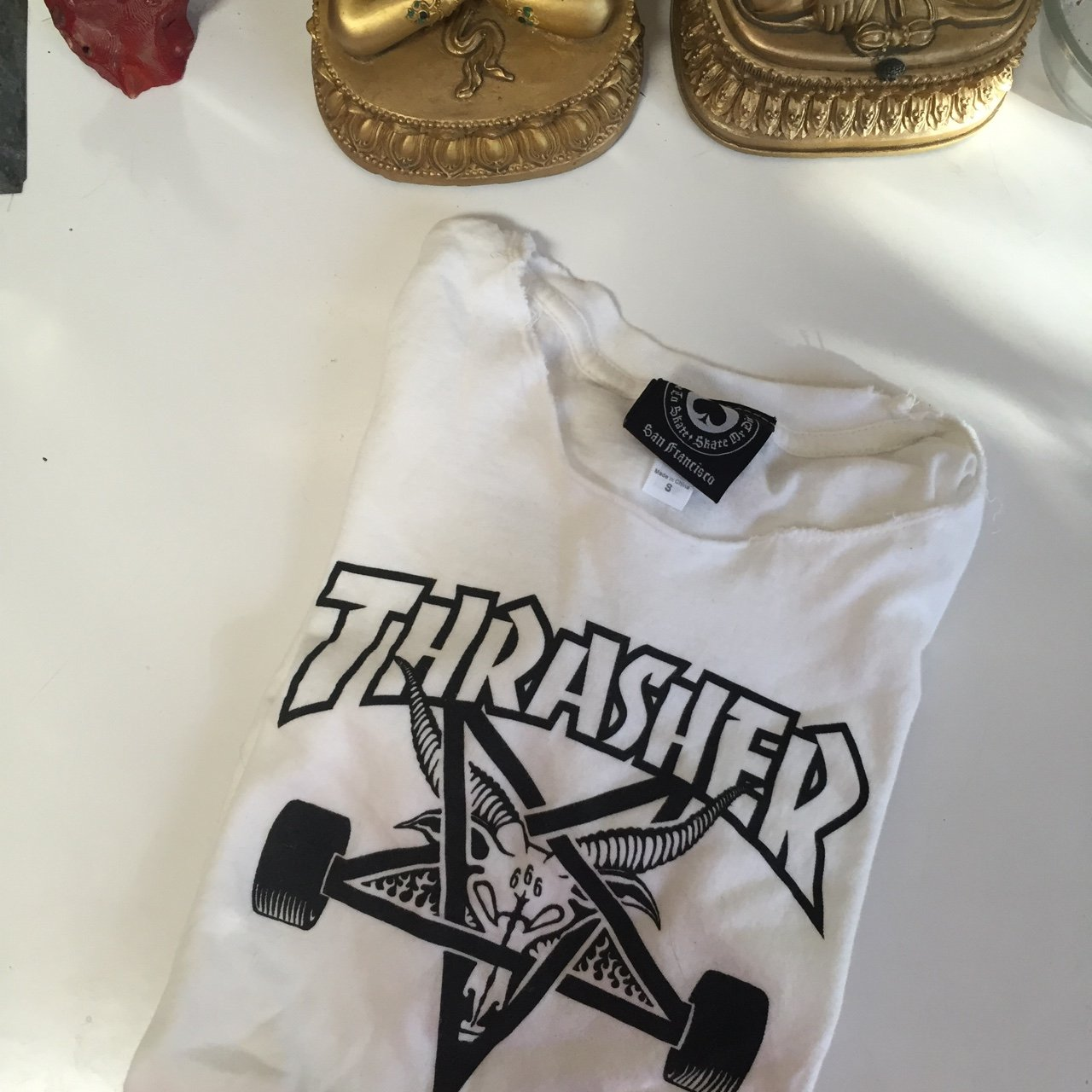 Womens thrasher skategoat tee shirt  I cannot find this one - Depop 6a9cd8b5b7