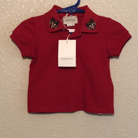 284abaf74 @lovepinkpink. 4 months ago. San Antonio, United States. Baby Gucci polo  shirt 6-9 months all tags attached . 100% authentic guaranteed