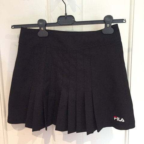 47e676802c4 Fila tennis skirt size S. small rip by zip that has been - Depop
