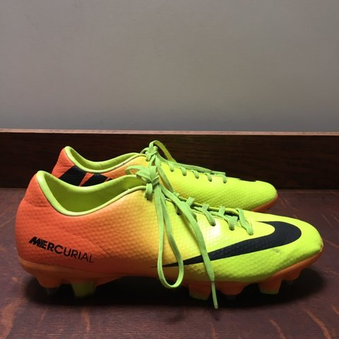 6a14a7eea553 @juice2luce. 3 months ago. Holmfirth, United Kingdom. Nike mercurial  football boots in fluorescent orange ...