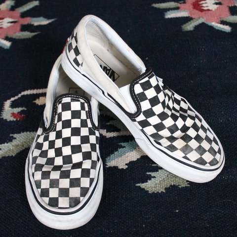 black and white checkered vans! faded