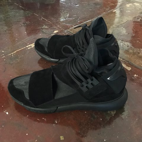 6dca97a9d172b Y-3 Qasa High Lux triple black leather suede. Like new worn - Depop