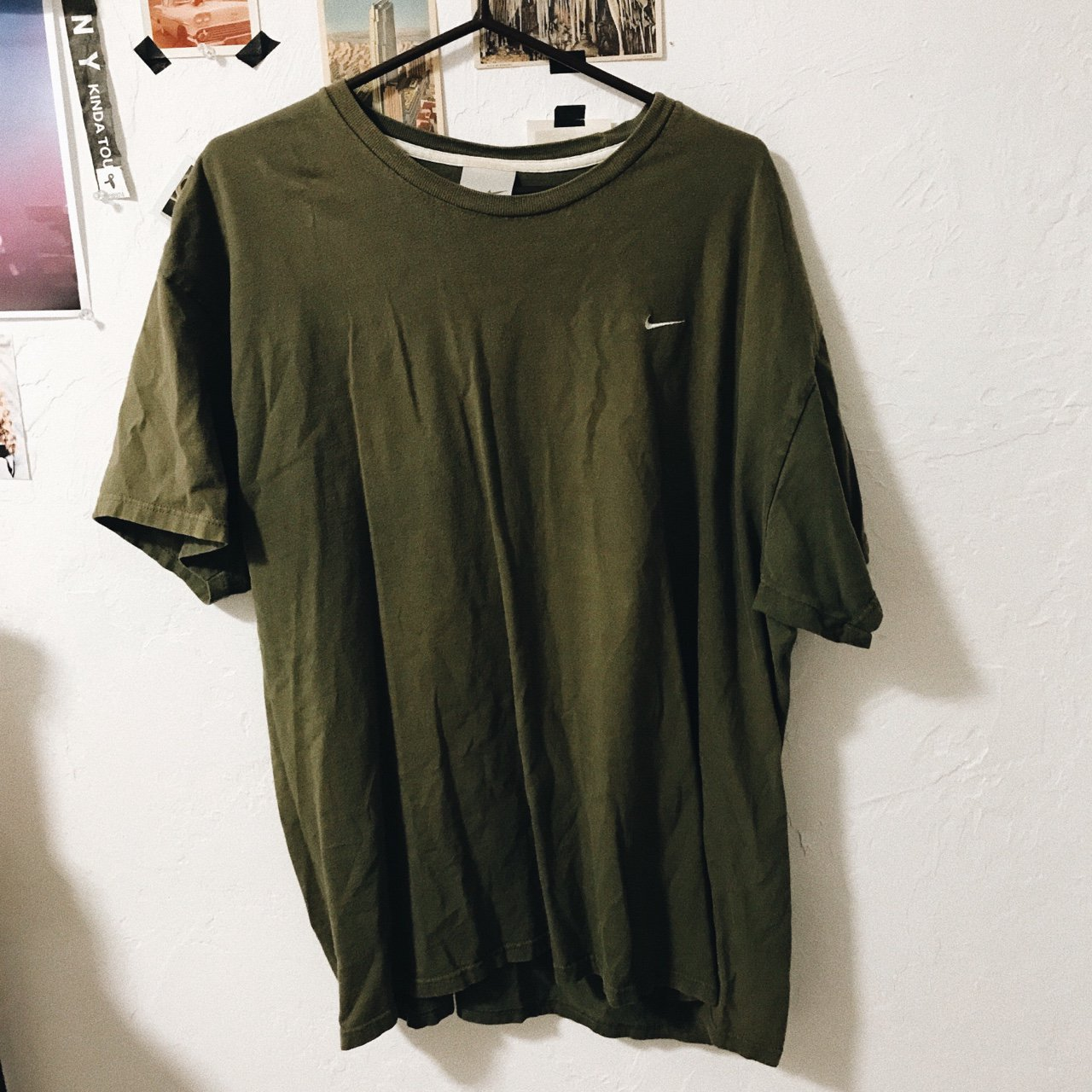 deff8a1b2 Olive green #nike oversized tee (willing to bundle with red - Depop