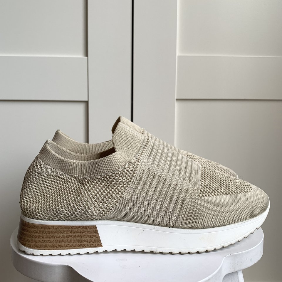 River island knitted runner trainers