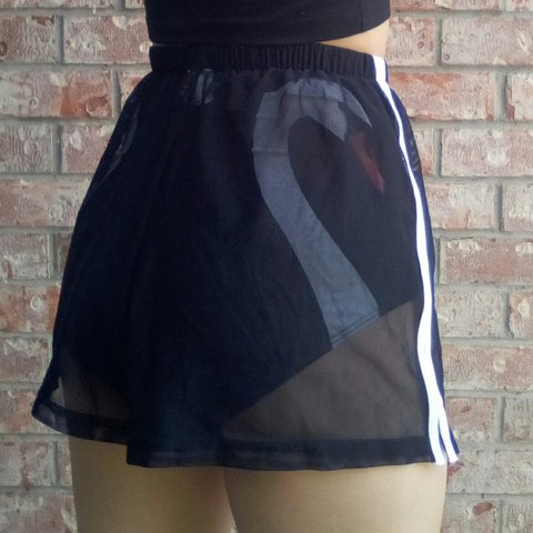 5fce8523391 Vintage 80s 90s black sheer mesh shorts Perfect for a just a - Depop