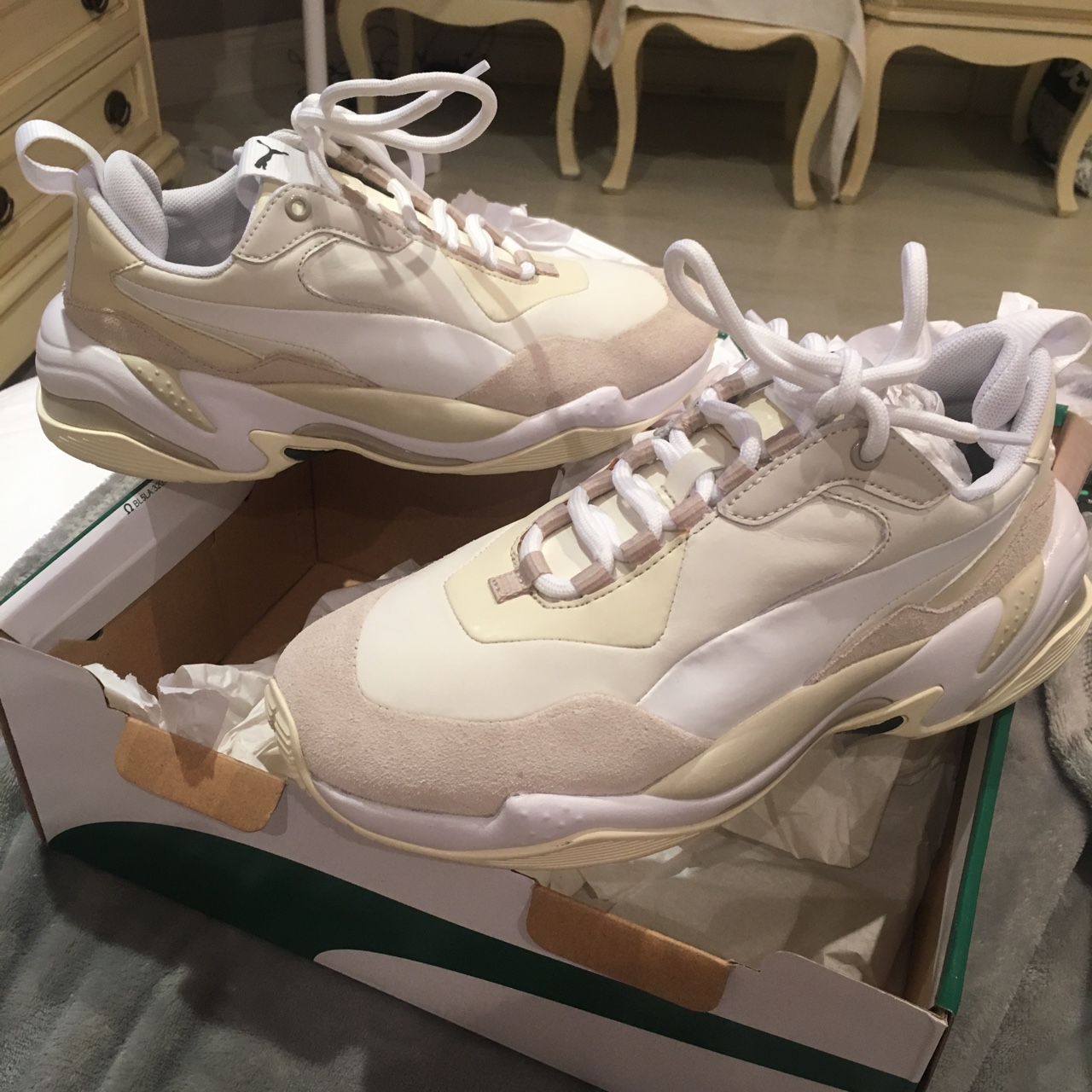 Women's puma thunder nature trainers. Size 5. Brand... - Depop