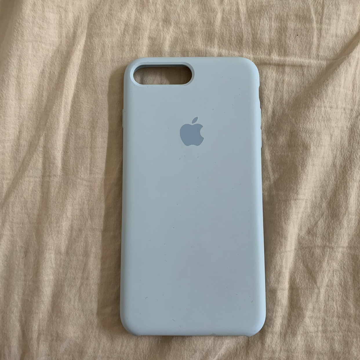 competitive price 9f00c 00b94 Apple Sky Blue Silicone Case for iPhone 7 plus / 8... - Depop