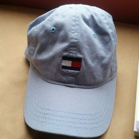 eaa44bdf15b Authentic Tommy Hilfiger dad hat. Baby blue with the logo on - Depop