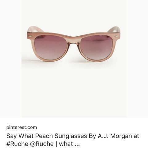 ab5c7af7d Rose sunglasses from Asos, brand A. J. Morgan. Cute and and - Depop