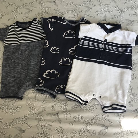 6ed063794 Set of 3 baby boys rompers from next size 6-9 Months in - Depop