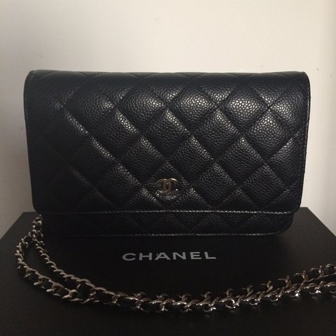 e31afe626888 @nask29. 2 years ago. Enfield, United Kingdom. Chanel WOC in black caviar  leather with silver hardware.