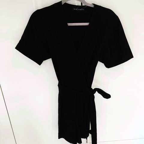 73a9983e1ec FRENCH CONNECTION - Black Tie Playsuit. New With Tags. Size - Depop