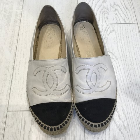 c33601668 @billimucklow. 2 years ago. London, UK. CHANEL ESPADRILLES White Leather