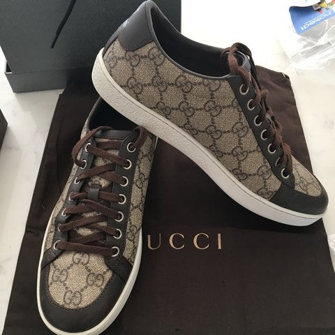 b2c93427437 100% Authentic Women s Gucci Trainers in Size 37 which have - Depop