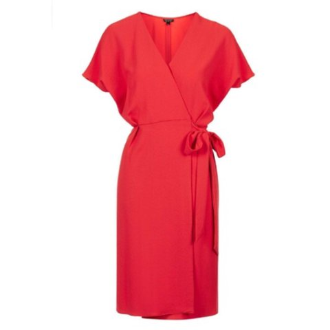 922a6e0519 Topshop Red Wrap dress size 8 never worn sold out in all £46 - Depop