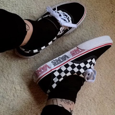 1d76b2ad7c Thinking of selling my limited edition vans ✨ Black and with - Depop