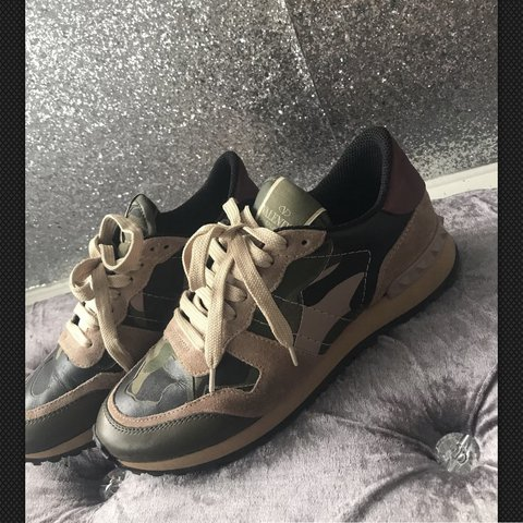 Valentino Rocstud Trainers Size 5 Brought in Valentino so - Depop 2a1bf4604ec0