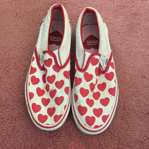 91295d1bf9b5 Vans heart slip ons size 4.5 but would best fit a 5 as im a - Depop