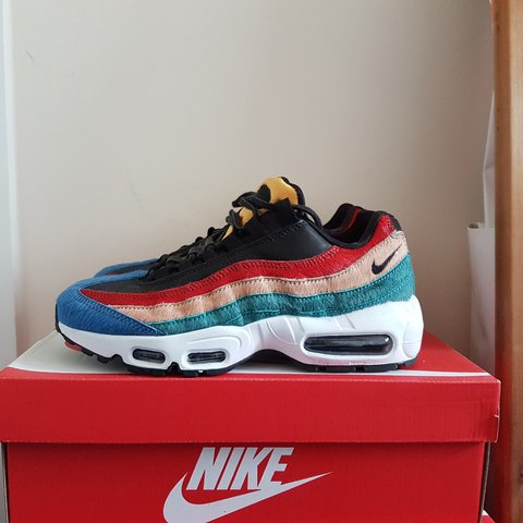 5f3e2daeac ... sale nike air max 95 pony hair multicolour uk 5.5 rare shoe true depop  8d3d9 cfdb6