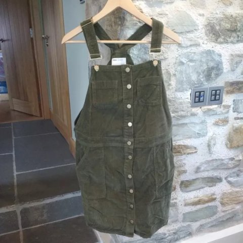 53d355ba5e119 @lisarafis. 3 years ago. United Kingdom. Asos olive cord maternity dungaree  pinafore dress ...