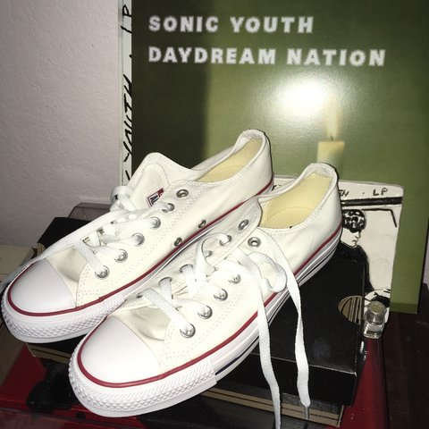 d1bc5b64845b BRAND new white Converse low top Chuck Taylors! Total I a my - Depop