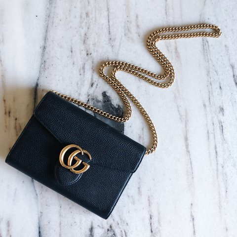 b69badab8 @dkovaa. 7 months ago. Spokane, United States. Additional photos of Gucci  Marmont Chain Wallet Bag