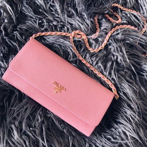 5df98625d85951 Additional photos Authentic Prada WOC Wallet on a Chain in - Depop