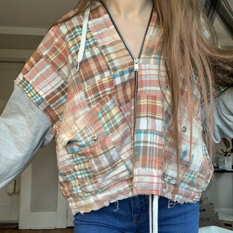 patchwork hoodie urban outfitters