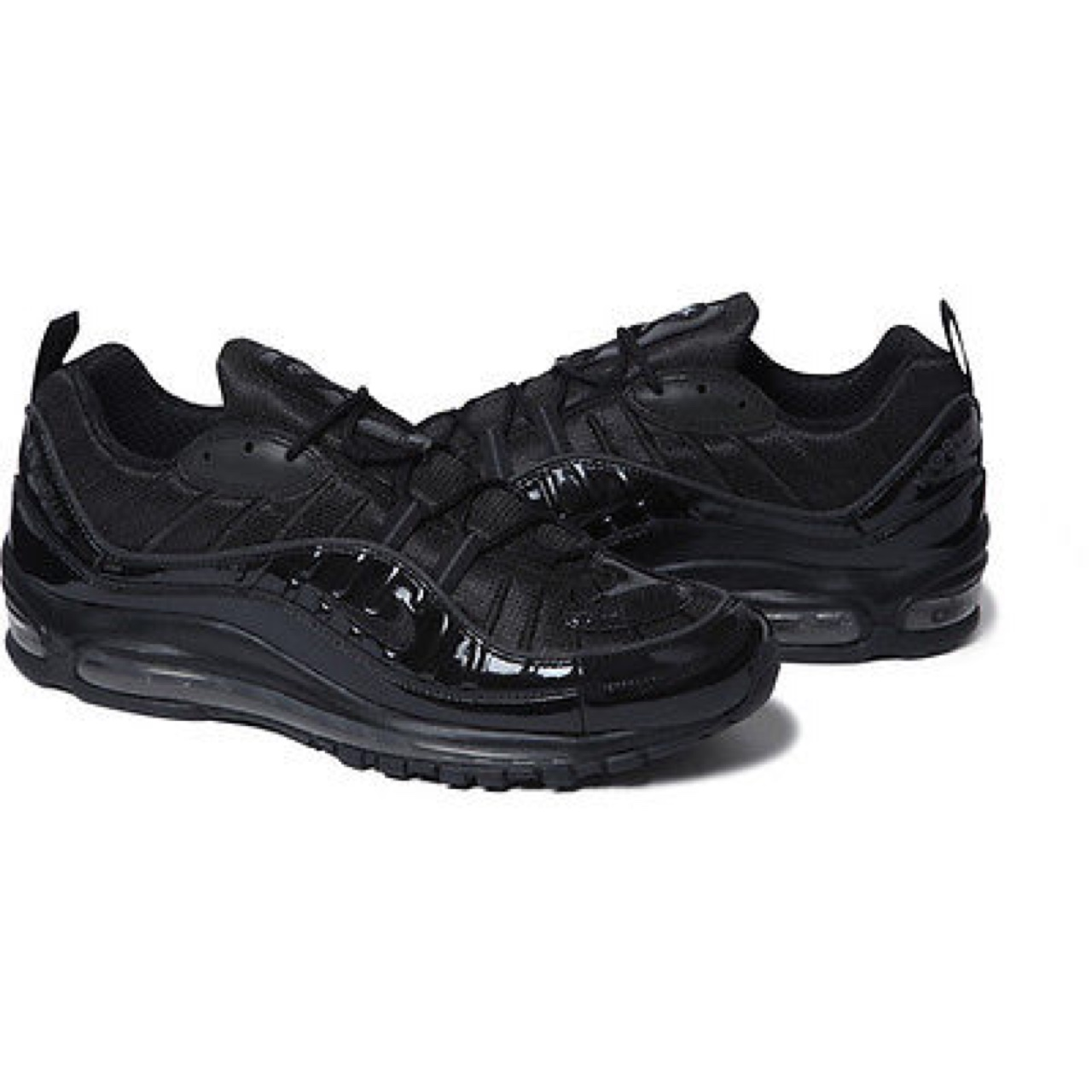 finest selection babdd 8cb74 Supreme Nike Air Max 98s in Black. Never worn,... - Depop