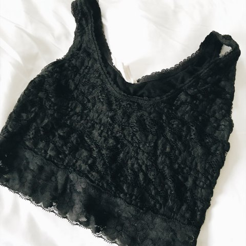 59dc0e2ee4 Pins   Needles black lace bralette from Urban Outfitters. is - Depop