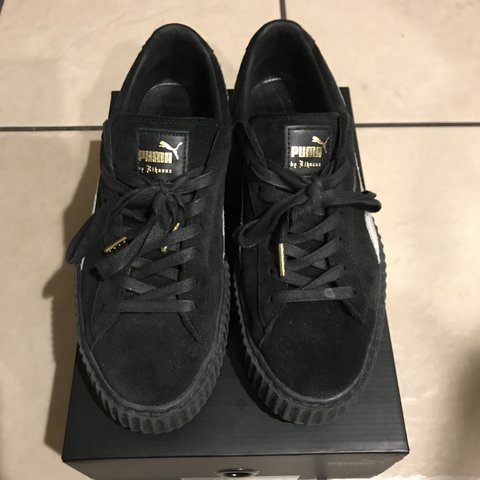 Fenty Puma Black   White Creepers Size  US Men s 10 — Worn - Depop edcf3cd6d