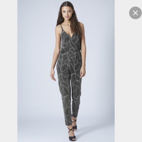 0be708fbebc Black and silver glitter jumpsuit from topshop. SOLD OUT so - Depop
