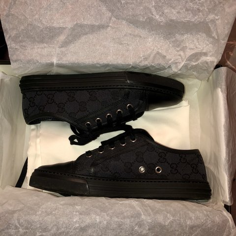 3f317f1c0b2 Women s black Gucci trainers Bought from Bicester village 3 - Depop