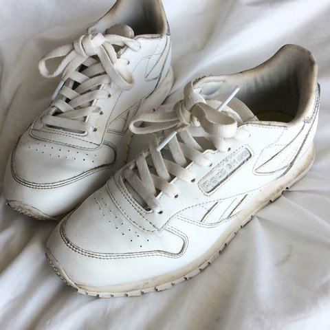 96855be5c8146 @arleya_bxt. last year. Norwich, United Kingdom. reebok classic leather white  trainers sparkly/glitter back label