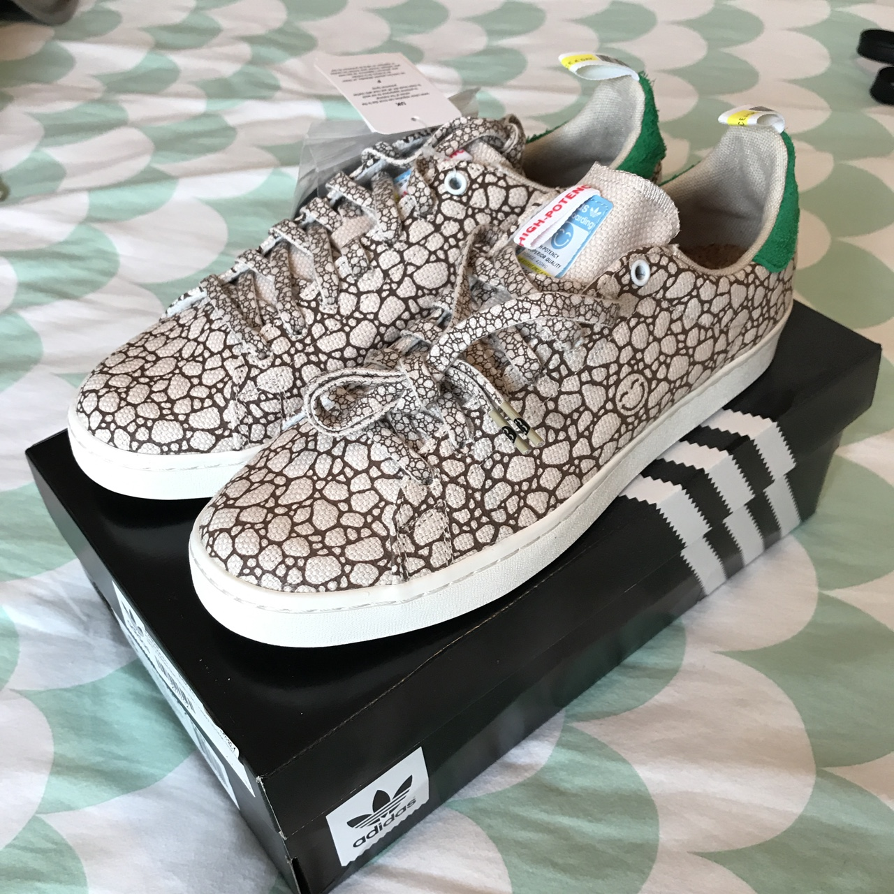 online store db7b0 90bf2 ADIDAS x BAIT Stan Smith Vulc 'Happy 420' - UK 7.5... - Depop