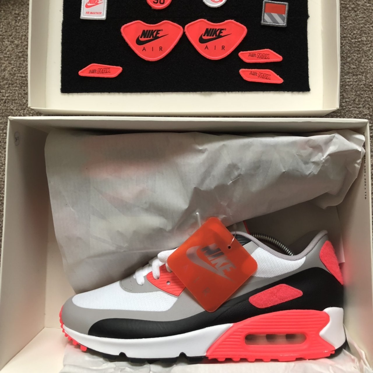 huge discount 36ac5 3cfbf  harba1994. 8 months ago. Consett, United Kingdom. Nike air max 90 infrared  patch ...