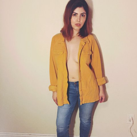 The Most PURF Mustard Yellow 70s Style Top Could Be Worn On