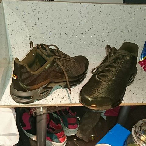 best sneakers 72979 a64ab Nike tuned 1 (tns) khaki green very popular I have a rare 7 - Depop